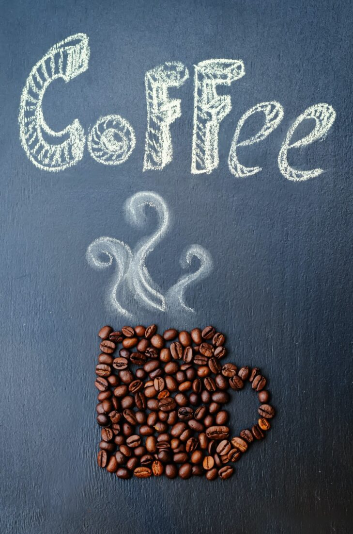 coffee with coffee beans